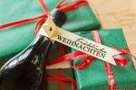 Geschenkanhänger Flaschengrüße 3er Set Fröhliche Weihnachten